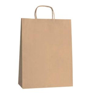 Bolsa de papel con asa retorcida 28x12x33