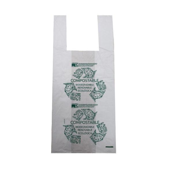 Bolsa camiseta compost 35x50 GA70 (20paq x100un)