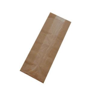 Bolsa papel Bocadillo KRAFT Con Ventana (2/29) 36 gr.10+4x29