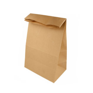 Bolsas papel Kraft 80 gr. Americanas fuelle y sin asas 20+9x34,5 cm