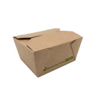 Envase 100% cartón kraft take away 780 ml. 113x90x63