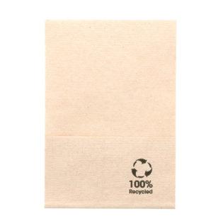 Servilleta Mini Servis 100% reciclada 17x17 cm. Beige
