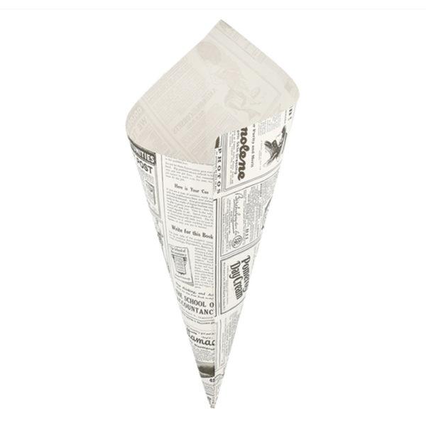 Papelina punta hoja periódico