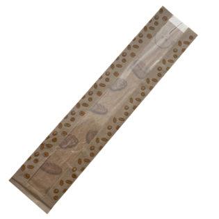 Bolsa de papel con ventana para 1 barra