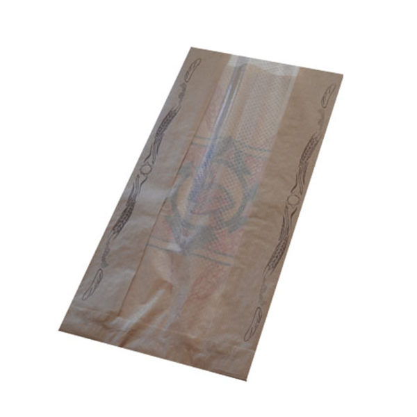 Bolsa papel Bollería Mediana KRAFT  Con Ventana (8/33) 36 gr.18+8x33