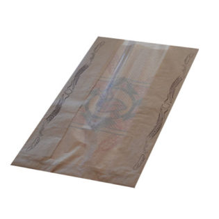 Bolsa papel KRAFT Ventana (9V/39) 36 gr.23+7x39