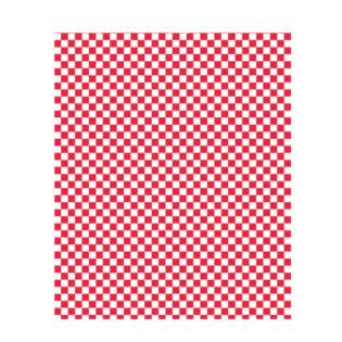 Papel antigrasa 34 gr. Blanco/cuadrito rojo recipientes 31x38 cm.