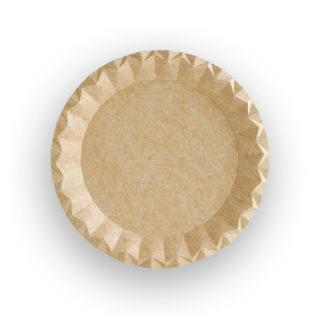 Plato cartón kraft reciclable Ø 180x7 mm.