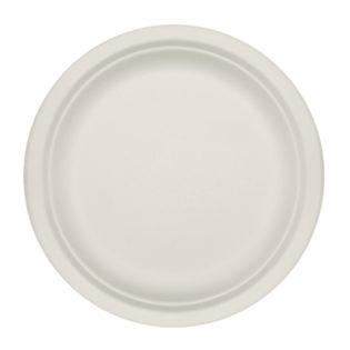 Plato plano celulosa blanca reciclable Ø 220x20 mm.