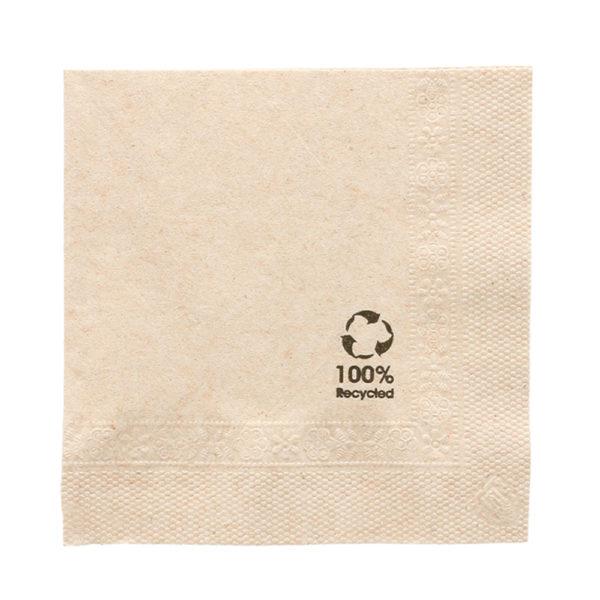 Servilletas 100% recicladas 2C 20x20 cm. Beige
