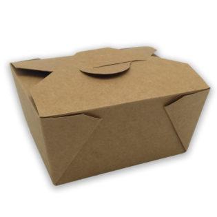 Envase tapa cartón kraft+pe take away 780 ml. 113x90x63 mm.
