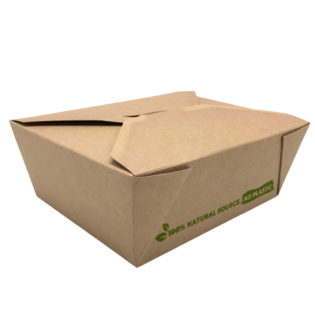 Envase  100% cartón kraft take away 1350 ml. 152x120x63
