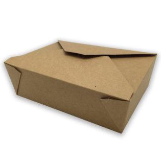 Envase tapa cartón kraft+pe take away1470 ml. 197x140x45 mm.