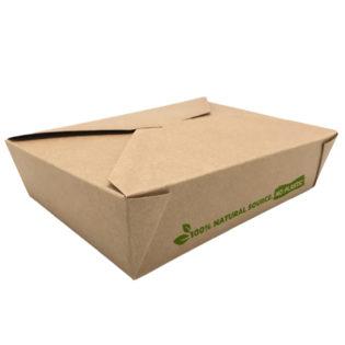 Envase 100% cartón kraft take away 1470 ml. 197x140x45