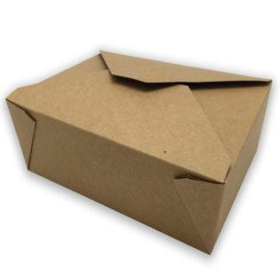 Envase tapa cartón kraft+pe take away XXL 200x140x90 mm.