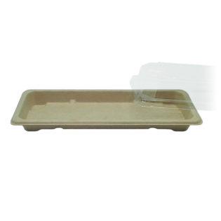 Bandeja fibra trigo + tapa OPS Sushi 220x90x20