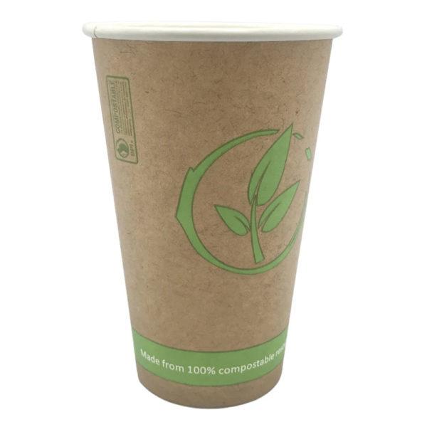 Vaso cartoncillo bebida caliente compostable 360 ml.
