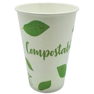 Vaso papel blanco Compostable bebida fría 360 ml