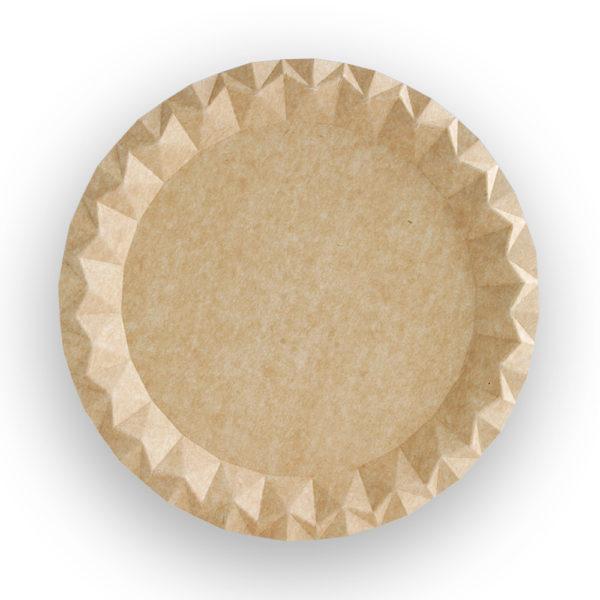 Plato cartón kraft reciclable Ø 230x7 mm.