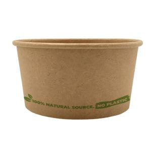 Tarrina helado 100% cartón kraft 90 ml. Ø72mm