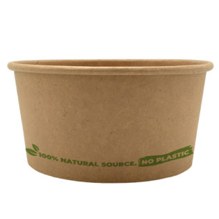 Tarrina helado 100% cartón kraft 120 ml. Ø73mm