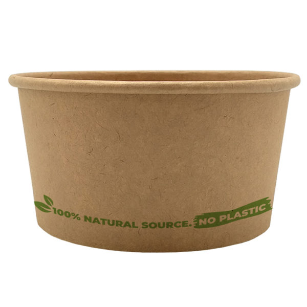 Tarrina helado 100% cartón kraft 180 ml. Ø85mm