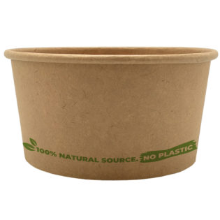 Tarrina helado 100% cartón kraft 240 ml. Ø95mm