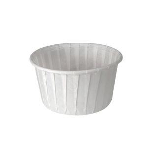Tarrina salsera papel plisado 60 ml. Sin tapa Ø 54x36 mm.