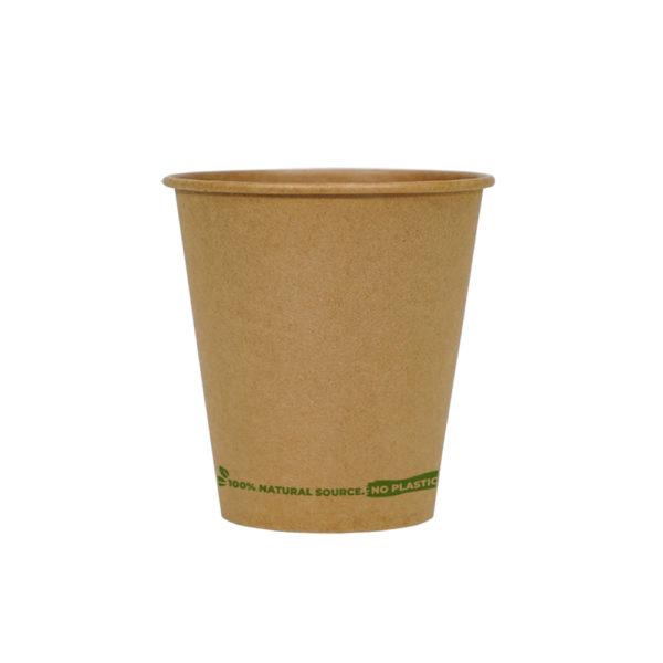 Vaso café 100% cartón kraft 120ml. Ø 62mm