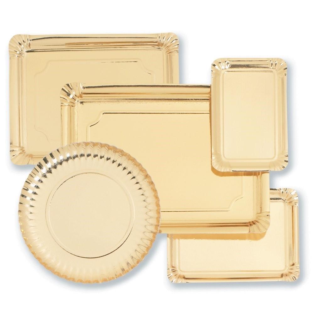 Bandejas cartón oro para pastelería