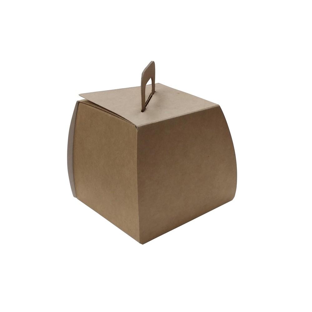 Caja cartón Kraft cuadrada oslo para pastel individual