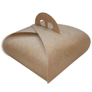 Caja cartón Kraft cuadrada paris para pastelería
