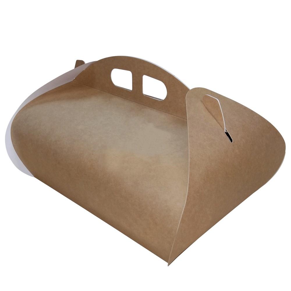 Caja cartón Kraft rectangular Lion para pastelería