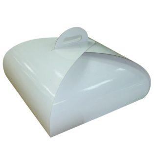 Caja cartón blanca cuadrada Paris para pastelería