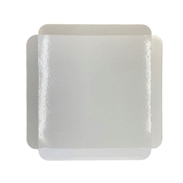 Cubeta cartón base blanca cuadrada para pastelería Paris