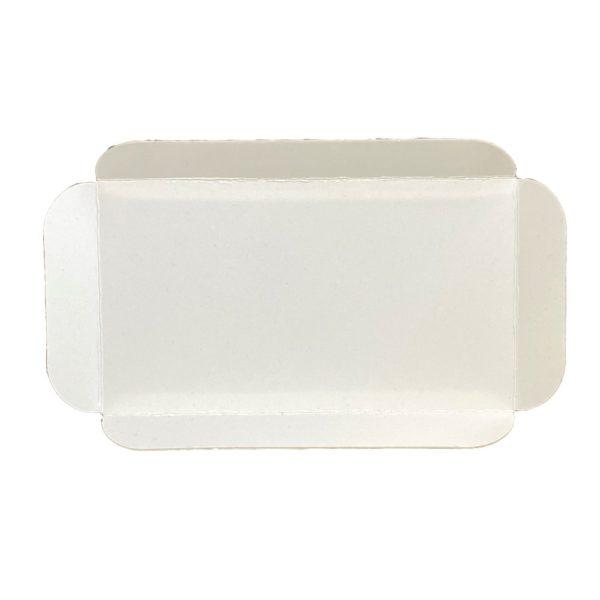 Cubeta cartón base blanca rectangular para pastelería Lyon