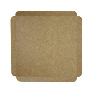 Cubeta cartón base kraft cuadrada para pastelería Paris