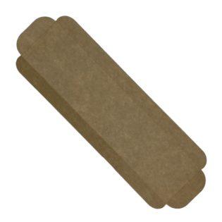 Cubeta cartón base kraft rectangular para brazos y bandas Venecia