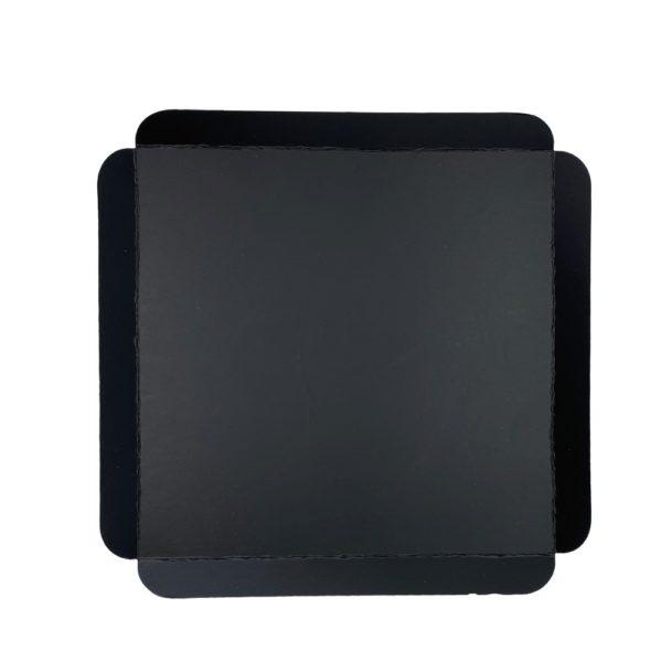 Cubeta cartón base negra cuadrada para pastelería Paris