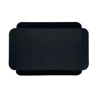 Cubeta cartón base negra rectangular para pastelería Lyon
